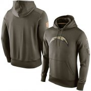 Wholesale Cheap Men's Los Angeles Chargers Nike Olive Salute To Service KO Performance Hoodie
