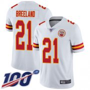 Wholesale Cheap Nike Chiefs #21 Bashaud Breeland White Men's Stitched NFL 100th Season Vapor Limited Jersey