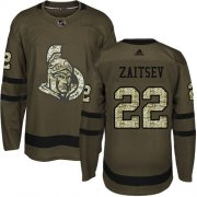 Wholesale Cheap Adidas Senators #22 Nikita Zaitsev Green Salute to Service Stitched Youth NHL Jersey
