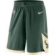 Wholesale Cheap Men's Milwaukee Bucks Nike Green Icon Swingman Basketball Shorts