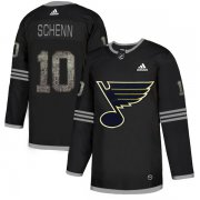 Wholesale Cheap Adidas Blues #10 Brayden Schenn Black Authentic Classic Stitched NHL Jersey