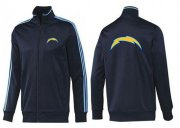 Wholesale Cheap NFL Los Angeles Chargers Team Logo Jacket Dark Blue_2