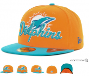 Wholesale Cheap Miami Dolphins fitted hats 11