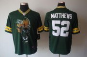 Wholesale Cheap Nike Packers #52 Clay Matthews Green Team Color Men's Stitched NFL Helmet Tri-Blend Limited Jersey