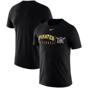 Wholesale Cheap Pittsburgh Pirates Nike MLB Practice T-Shirt Black
