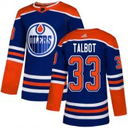 Wholesale Cheap Adidas Oilers #33 Cam Talbot Royal Alternate Authentic Stitched NHL Jersey