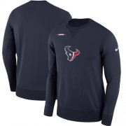 Wholesale Cheap Men's Houston Texans Nike Navy Sideline Team Logo Performance Sweatshirt