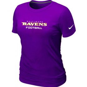 Wholesale Cheap Women\'s Nike Baltimore Ravens Sideline Legend Authentic Font T-Shirt Purple