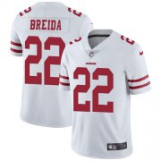 Wholesale Cheap Nike 49ers #22 Matt Breida White Men's Stitched NFL Vapor Untouchable Limited Jersey