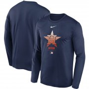Wholesale Cheap Men's Houston Astros Nike Navy Authentic Collection Legend Performance Long Sleeve T-Shirt
