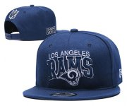 Wholesale Cheap Rams Team Logo Navy 1937 Anniversary Adjustable Hat YD