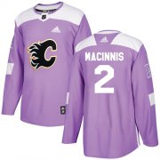 Wholesale Cheap Adidas Flames #2 Al MacInnis Purple Authentic Fights Cancer Stitched NHL Jersey