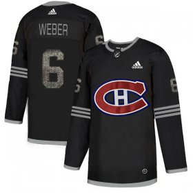 Wholesale Cheap Adidas Canadiens #6 Shea Weber Black Authentic Classic Stitched NHL Jersey