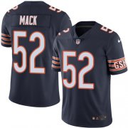 Wholesale Cheap Nike Bears #52 Khalil Mack Navy Blue Team Color Men's Stitched NFL Vapor Untouchable Limited Jersey