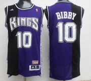 Wholesale Cheap Men's Sacramento Kings #10 Mike Bibby PurpleBlack Hardwood Classics Soul Swingman Throwback Jersey