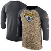 Wholesale Cheap Men's Jacksonville Jaguars Nike Camo Anthracite Salute to Service Sideline Legend Performance Three-Quarter Sleeve T-Shirt