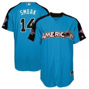 Wholesale Cheap Blue Jays #14 Justin Smoak Blue 2017 All-Star American League Stitched MLB Jersey