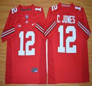 Wholesale Cheap Ohio State Buckeyes #12 Cardale Jones Red 2015 College Football Nike Limited Jersey