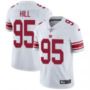 Wholesale Cheap Nike Giants #95 B.J. Hill White Men's Stitched NFL Vapor Untouchable Limited Jersey