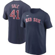 Wholesale Cheap Boston Red Sox #41 Chris Sale Nike Name & Number T-Shirt Navy