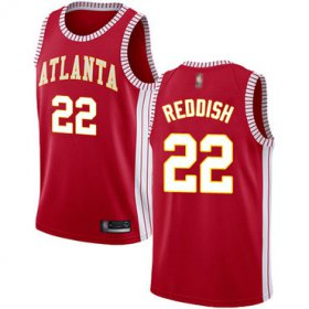 Wholesale Cheap Hawks #22 Cam Reddish Red Basketball Swingman Statement Edition Jersey