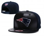 Wholesale Cheap NFL New England Patriots Team Logo Navy Silver Adjustable Hat YD