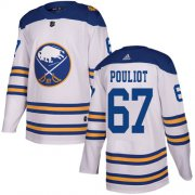 Wholesale Cheap Adidas Sabres #67 Benoit Pouliot White Authentic 2018 Winter Classic Stitched NHL Jersey