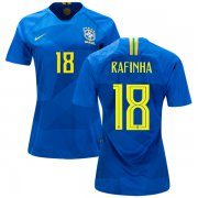 Wholesale Cheap Women's Brazil #18 Rafinha Away Soccer Country Jersey