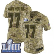 Wholesale Cheap Nike Rams #77 Andrew Whitworth Camo Super Bowl LIII Bound Women's Stitched NFL Limited 2018 Salute to Service Jersey