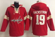 Wholesale Cheap Washington Capitals #19 Nicklas Backstrom Red Pullover NHL Hoodie