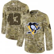 Wholesale Cheap Adidas Penguins #43 Conor Sheary Camo Authentic Stitched NHL Jersey