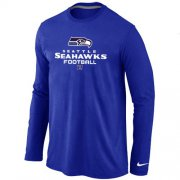 Wholesale Cheap Nike Seattle Seahawks Critical Victory Long Sleeve T-Shirt Blue