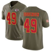 Wholesale Cheap Men's Kansas City Chiefs #49 Daniel Sorensen 2017 Salute to Service Jersey - Limited Green