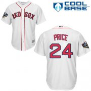 Wholesale Cheap Red Sox #24 David Price White New Cool Base 2018 World Series Stitched MLB Jersey