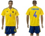Wholesale Cheap Ukraine #4 Tymoschuk Home Soccer Country Jersey