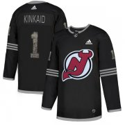 Wholesale Cheap Adidas Devils #1 Keith Kinkaid Black Authentic Classic Stitched NHL Jersey