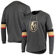 Wholesale Cheap Vegas Golden Knights adidas Platinum Long Sleeve Jersey T-Shirt Gray