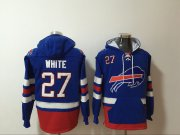 Wholesale Cheap Men's Buffalo Bills #27 Tre'Davious White NEW Blue Pocket Stitched NFL Pullover Hoodie