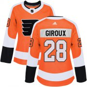 Wholesale Cheap Adidas Flyers #28 Claude Giroux Orange Home Authentic Women's Stitched NHL Jersey