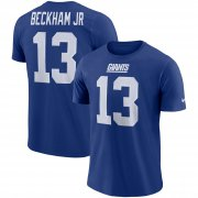 Wholesale Cheap Nike New York Giants #13 Odell Beckham Jr Player Pride 3.0 Name & Number Wordmark T-Shirt Royal