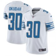 Wholesale Cheap Nike Lions #30 Jeff Okudah White Youth Stitched NFL Vapor Untouchable Limited Jersey