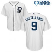 Wholesale Cheap Tigers #9 Nick Castellanos White Cool Base Stitched Youth MLB Jersey