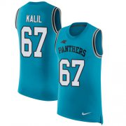 Wholesale Cheap Nike Panthers #67 Ryan Kalil Blue Alternate Men's Stitched NFL Limited Rush Tank Top Jersey