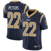 Wholesale Cheap Nike Rams #22 Marcus Peters Navy Blue Team Color Youth Stitched NFL Vapor Untouchable Limited Jersey