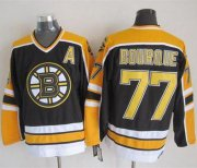 Wholesale Bruins #77 Ray Bourque Black CCM Throwback New Stitched NHL Jersey