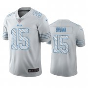 Wholesale Cheap Buffalo Bills #15 John Brown White Vapor Limited City Edition NFL Jersey