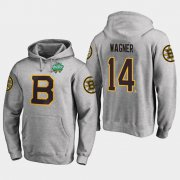 Wholesale Cheap Bruins #14 Chris Wagner Gray 2018 Winter Classic Fanatics Primary Logo Hoodie