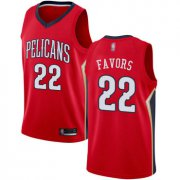 Wholesale Cheap Pelicans #22 Derrick Favors Red Basketball Swingman Statement Edition Jersey