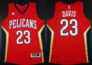 Wholesale Cheap New Orleans Pelicans #23 Anthony Davis Revolution 30 Swingman Red Jersey