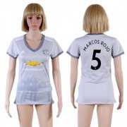 Wholesale Cheap Women's Manchester United #5 Marcos Rojo Sec Away Soccer Club Jersey